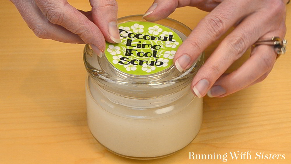 Make your own Coconut and Lime DIY Footscrub. We'll share our recipe for footscrub with a label you can download and print for a homemade gift!