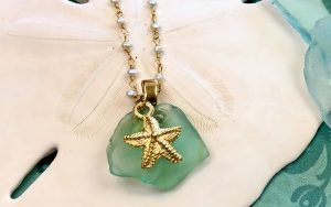 Beachy Sea Glass Necklace