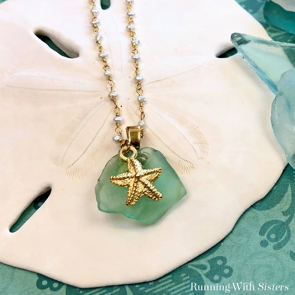 Turn a piece of sea glass into a Beachy Sea Glass Necklace! We'll show you how to use a bail to turn beach glass into a pendant. Video tutorial included!