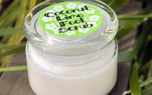 Coconut And Lime DIY Footscrub