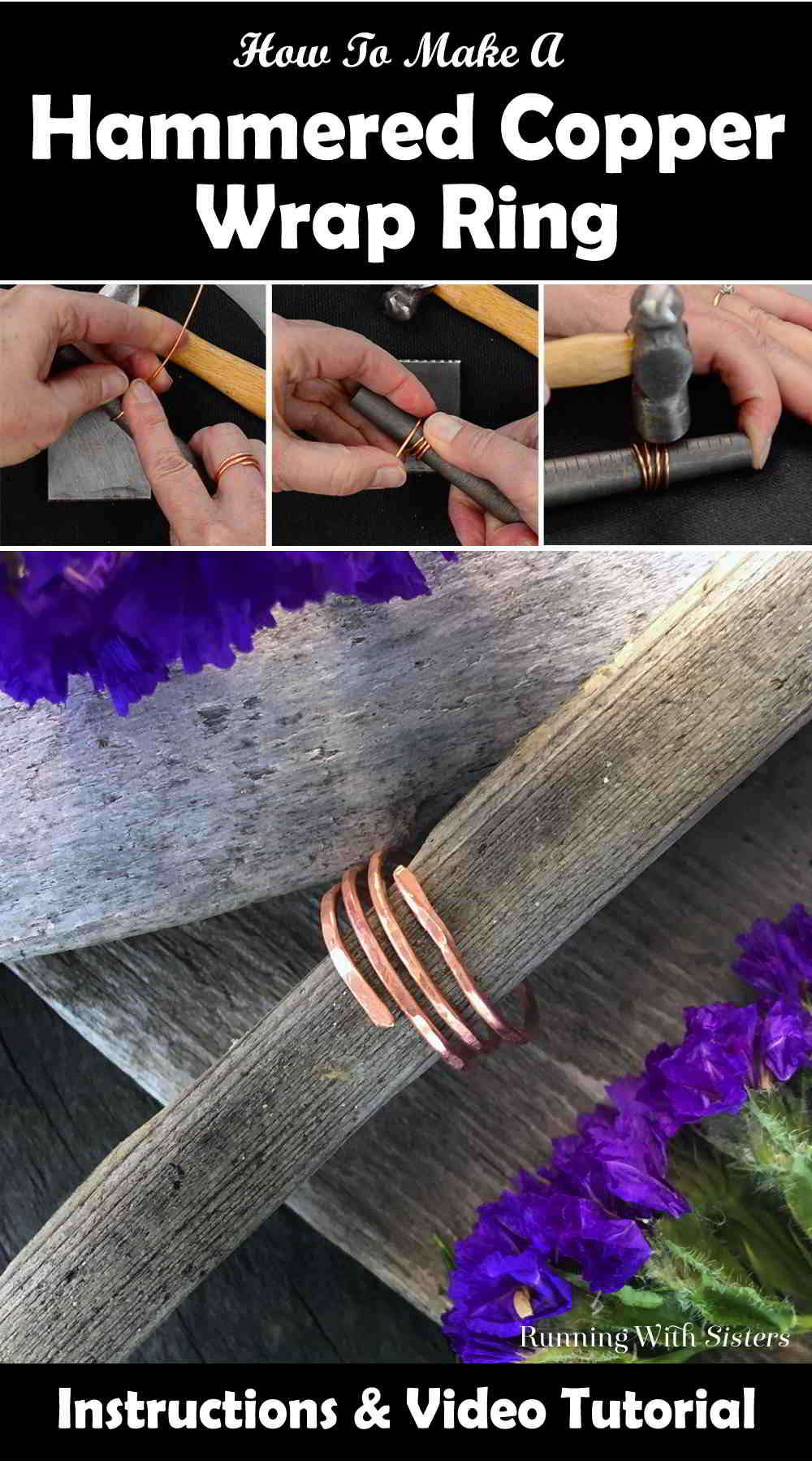 Transform a piece of copper wire into a Hammered Copper Wrap Ring. So cool and so artsy! Our step by step video will show you how!
