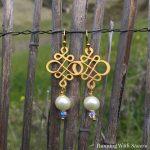 Swirl And Pearl Earrings