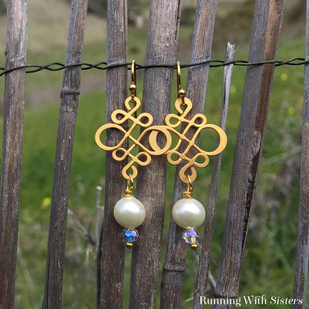 Learn to make your own earrings with this step by step jewelry making tutorial. We'll show you how to make these elegant Swirl and Pearl Earrings!