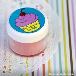 Make Vanilla Cupcake Lip Balm. It's a perfect craft for party favors. So sweet and easy!