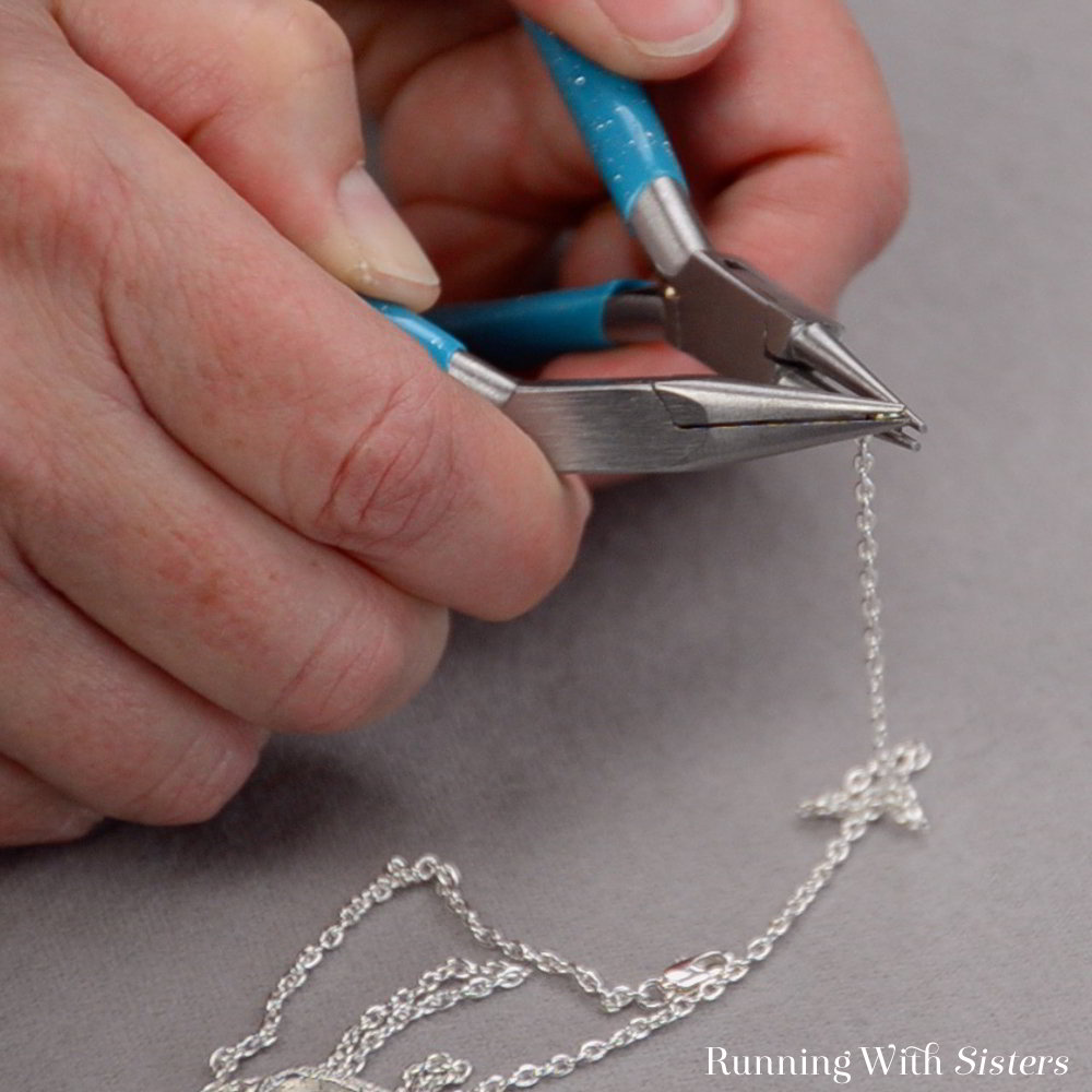 Make a delicate charm necklace. Watch our how to video to learn how to attach the charm, make the dangle, and how to put the clasp on the chain.