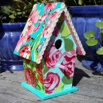 Pretty Fabric Covered Birdhouse