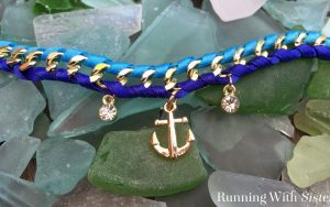 Woven Chain Bracelet With A Nautical Twist