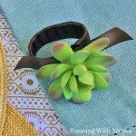 DIY Succulent Craft: Succulent Napkin Rings