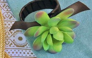 DIY Succulent Craft: Succulent Napkin Rings