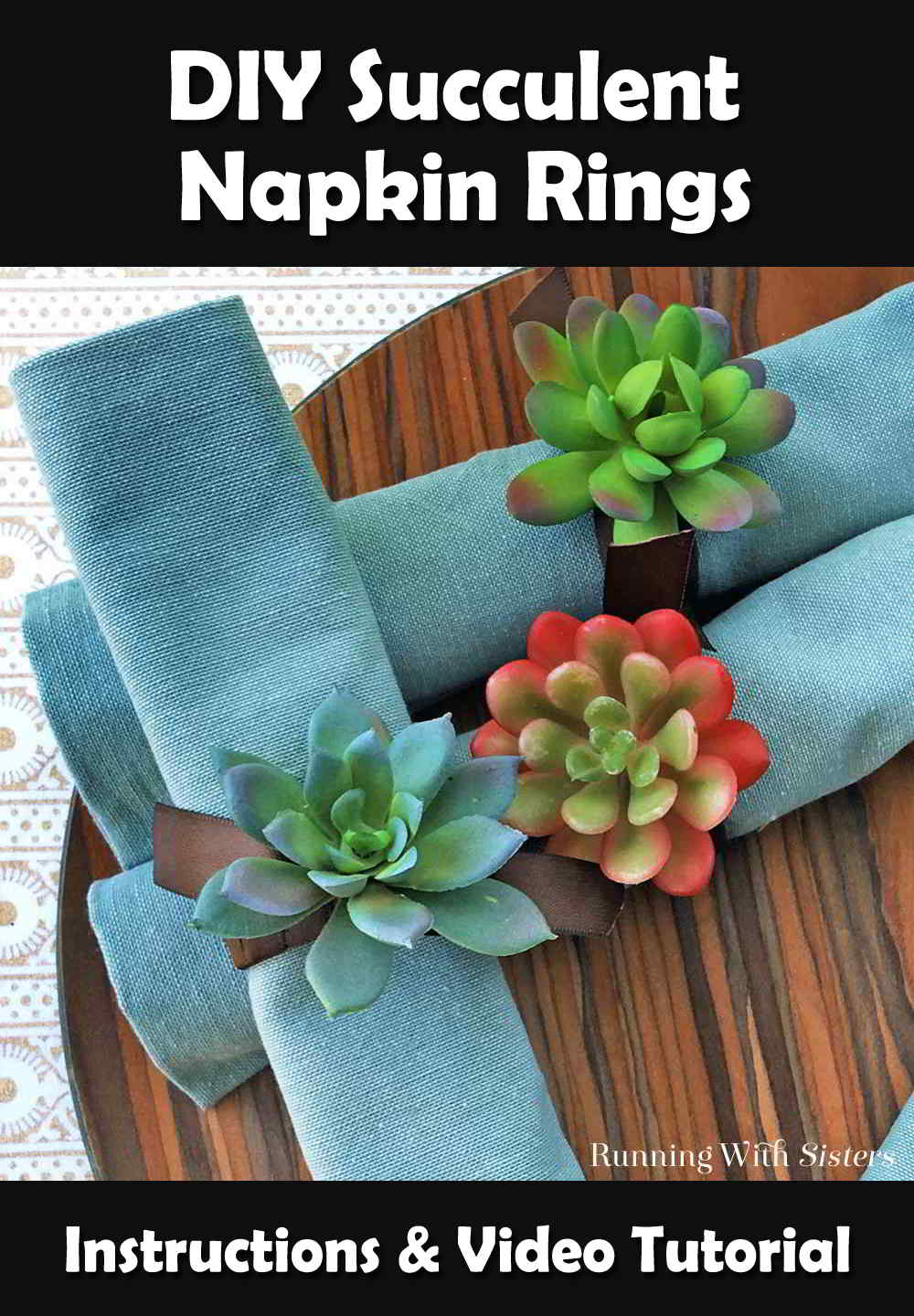 Turn dollar store succulents into Succulent Napkin Rings. We'll show you how with this DIY Succulent Craft video tutorial.