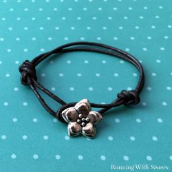Make an easy friendship bracelet with leather cord and a button for a clasp. Video tutorial plus step by step instructions. It's fun!