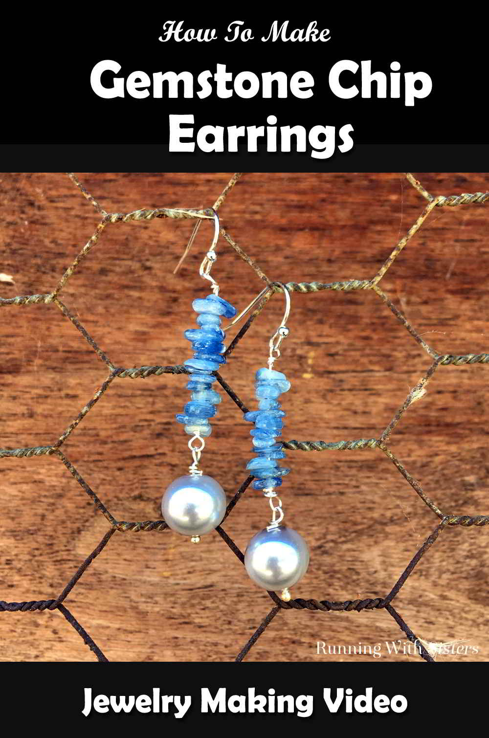 Make a pair of Gemstone Chip Earrings with gemstone chips and pearls. In this video we'll show you how to make your own jewelry with gemstone chips.