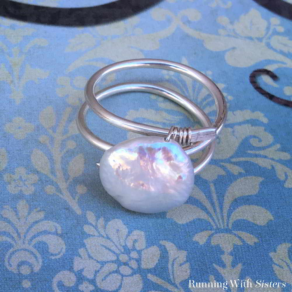 Make a gorgeous Pearl Wrap Ring from two pieces of wire and a freshwater pearl. You'll be surprised at how easy this artsy ring is to make!