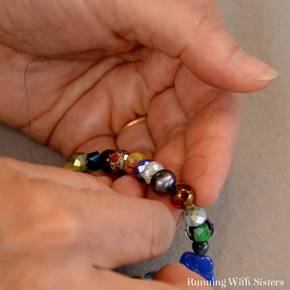 Make an Endless Beaded Necklace that you simply slip on over your head. We'll show you how to bead the necklace finish the ends without using a clasp.