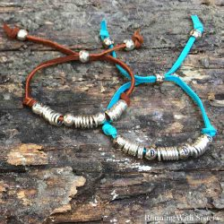 Make an Adjustable Leather Friendship Bracelet using silver beads and jump rings. We'll show you how with this step by step jewelry making video tutorial.