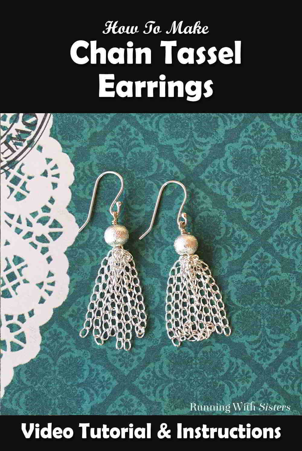 Make a pair of Chain Tassel Earrings! In this video tutorial, we'll show you how to make tassels from silver chain and how to turn them into earrings.