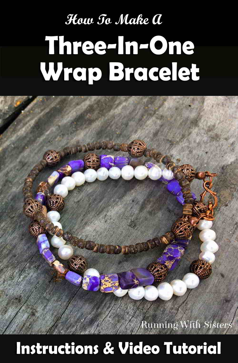 We will show you basic bead stringing to make your own Three-In-One Wrap Bracelet that looks like three stacked bracelets. Easy to make and easy to wear!