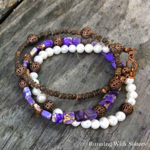 We'll show you basic bead stringing to make your own Three-In-One Wrap Bracelet that looks like three stacked bracelets. Easy to make and easy to wear!