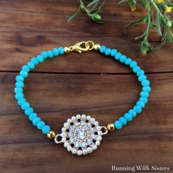 Make an elegant beaded bracelet with a rhinestone and pearl focal piece. This beaded bracelet tutorial will teach you bead stringing techniques you can use to make all kinds of jewelry.