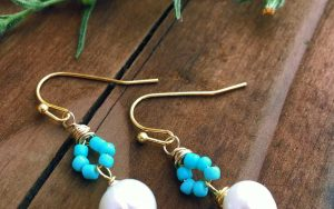 How To Make Elegant Turquoise Pearl Earrings