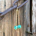 How To Make Dangling Bead And Chain Earrings