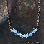 How To Make A Dainty Aquamarine Necklace