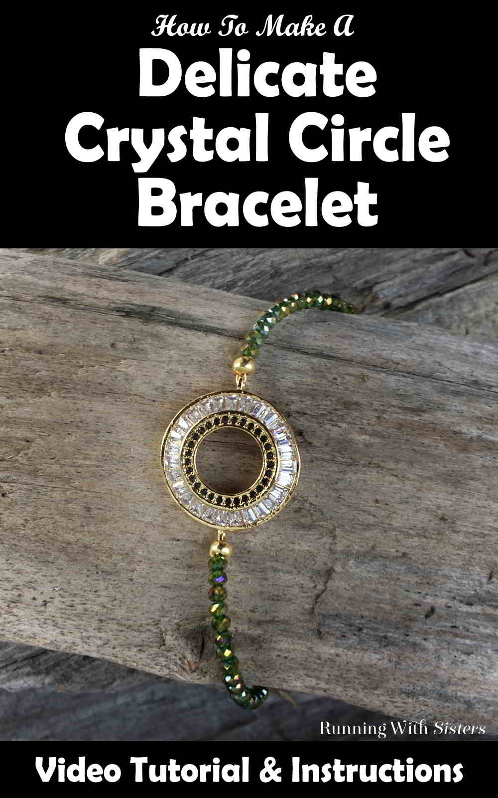 Make a Delicate Crystal Circle Bracelet with gorgeous crystal beads. We'll show you how to string the beads and add the clasp with this video tutorial.