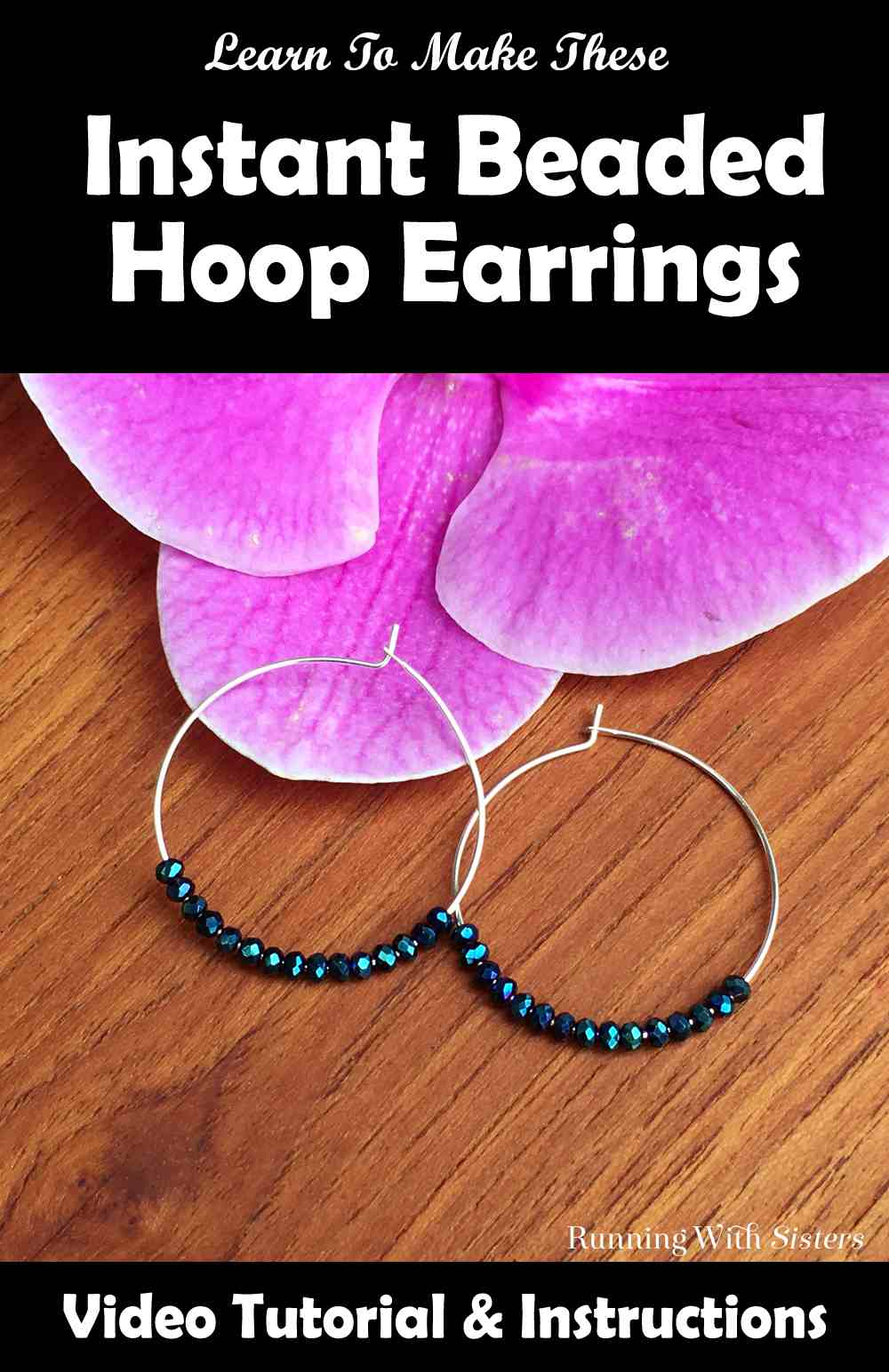 Instant Beaded Hoop Earrings Pinterest