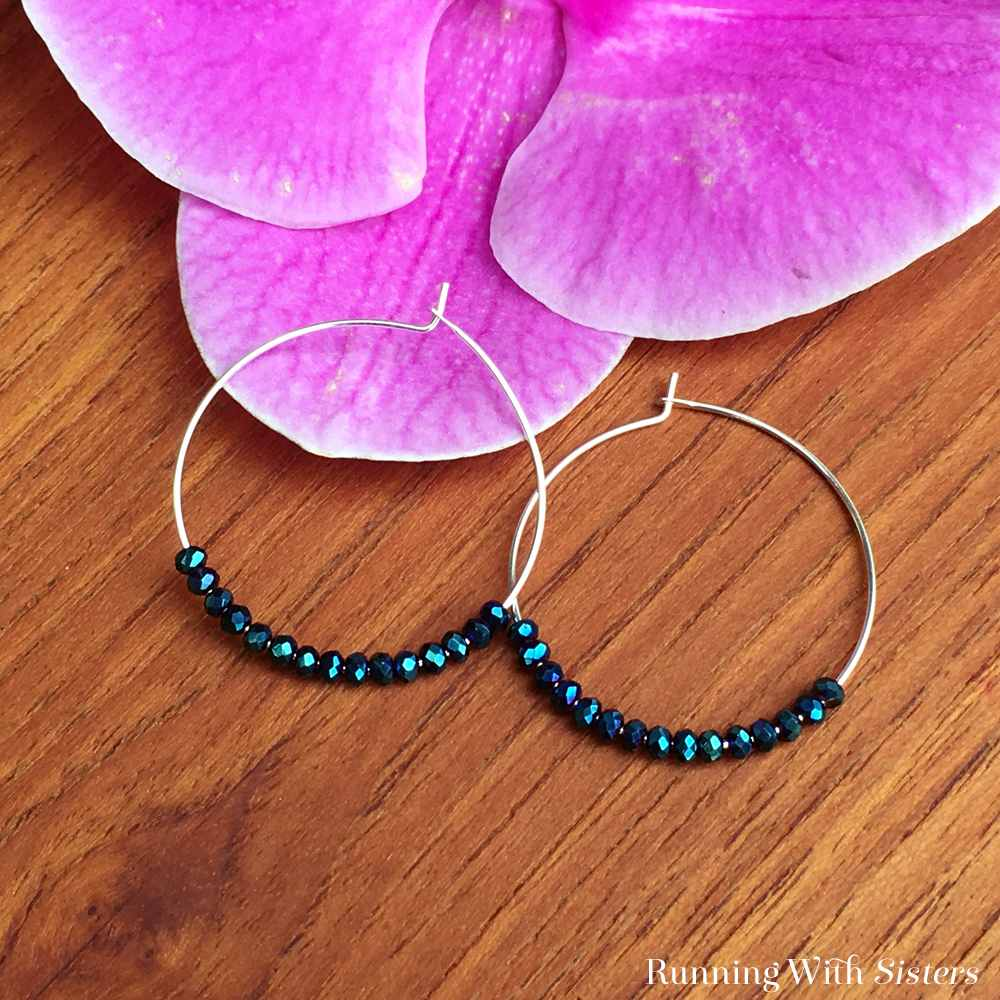 Instant Beaded Hoop Earrings