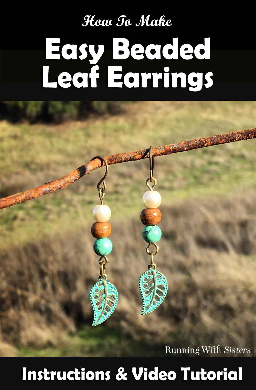 Learn to make your own DIY beaded earrings! In this video tutorial we'll show you how to make this pair of easy Beaded Leaf Earrings. Great gift craft!
