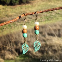 How To Make These Easy Beaded Leaf Earrings