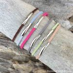How To Make Silver And Leather Stack Bracelets