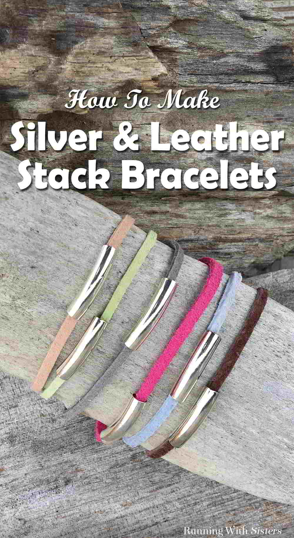 Make a set of Silver and Leather Stack Bracelets in just a few easy steps. We'll show you how with this jewelry making video tutorial.