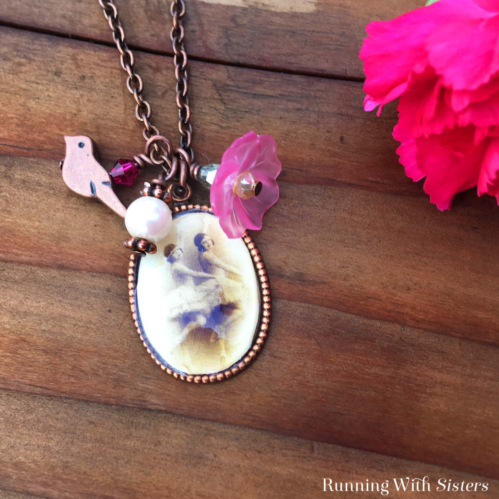 In this jewelry making tutorial we'll show you how to make a Mod Podge Picture Pendant and turn it into a Boho charm necklace!