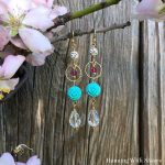 How To Make Turquoise Flower Drop Earrings