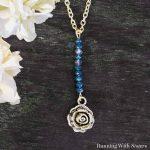 How To Make A Vertical Bar Necklace With A Rose Charm
