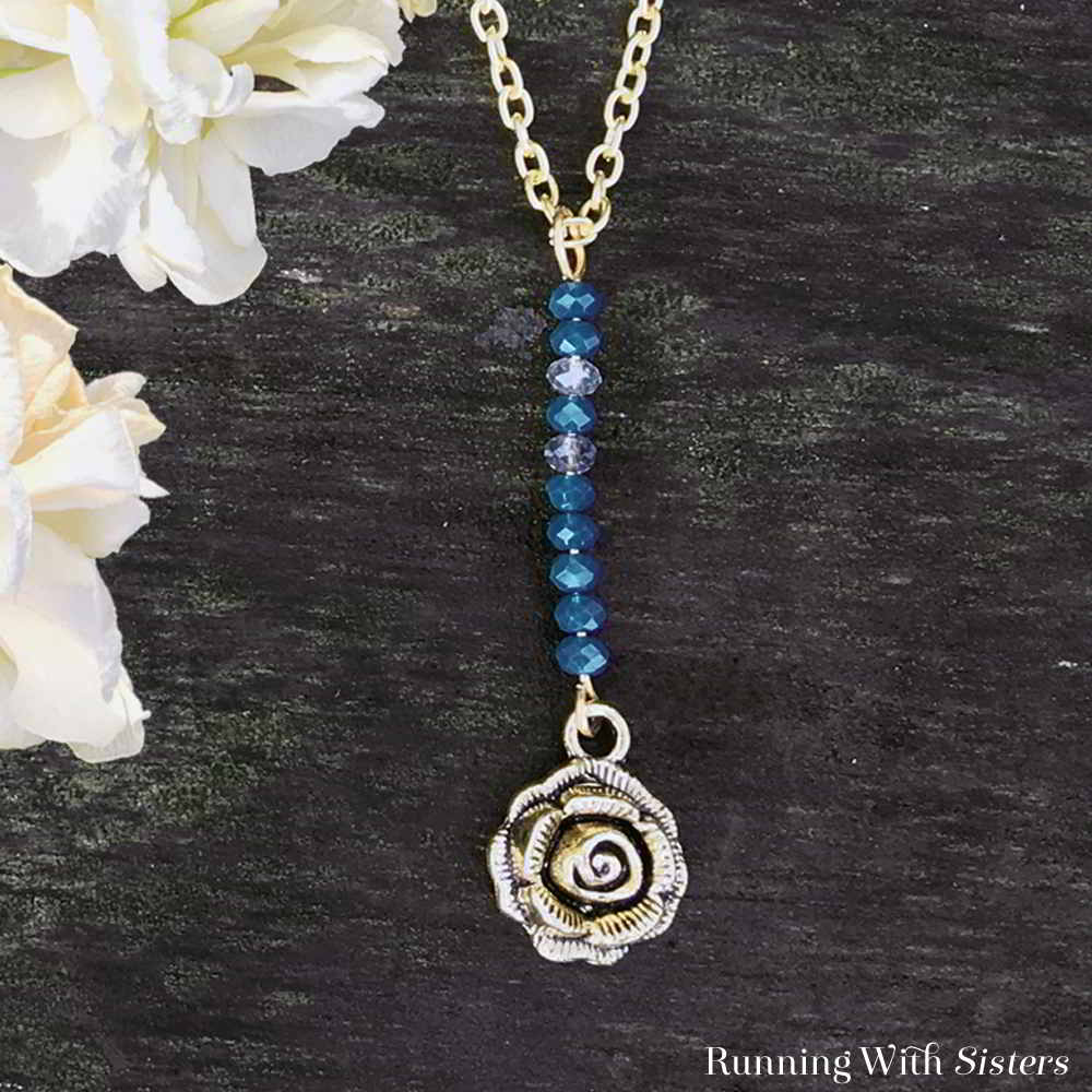 Learn to make this Beaded Vertical Bar Necklace with our step by step video tutorial. We'll show you how! Includes written instructions and step photos!