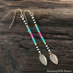 Learn to make your own Long Beaded Leaf Earrings in just a few simple steps. We'll show you how to create the seed bead pattern and attach the leaf. So Boho!