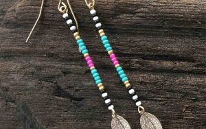 How To Make Long Beaded Leaf Earrings