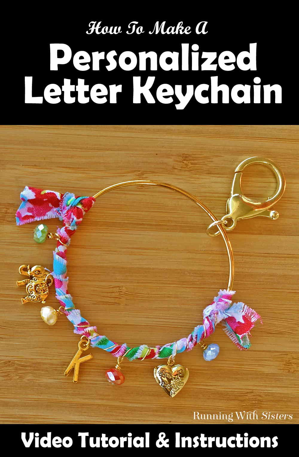 Make an Anthropologie inspired Personalized Letter Keychain! In this video tutorial, we'll show you how to make this DIY keychain. Perfect for a gift!