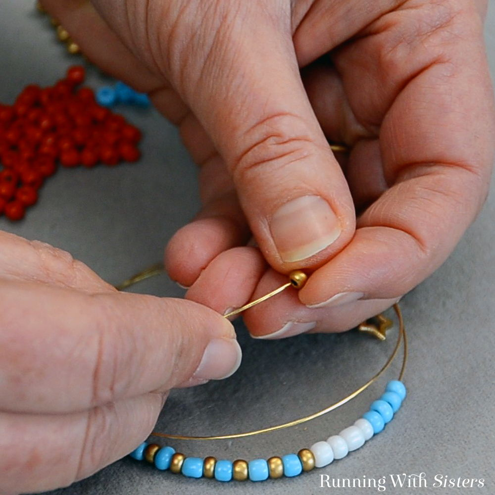 Make your favorite teacher a Teacher's Gift Beaded Bracelet! We'll show you every step with this jewelry making video!