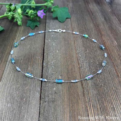 Sometimes the simplest necklace is the easiest to wear, and this Floating Crystal Necklace is no exception! We'll show you how to make this beaded necklace.