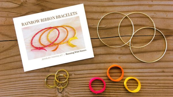 Rainbow Ribbon Bracelets Tropical Sunrise Kit Materials