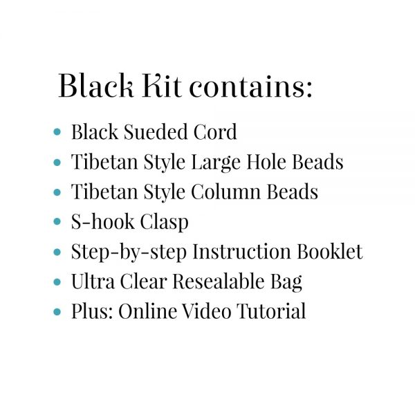 Black Boho Kit Contains