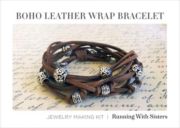 Boho Leather Wrap Bracelet Cocoa Kit Insert