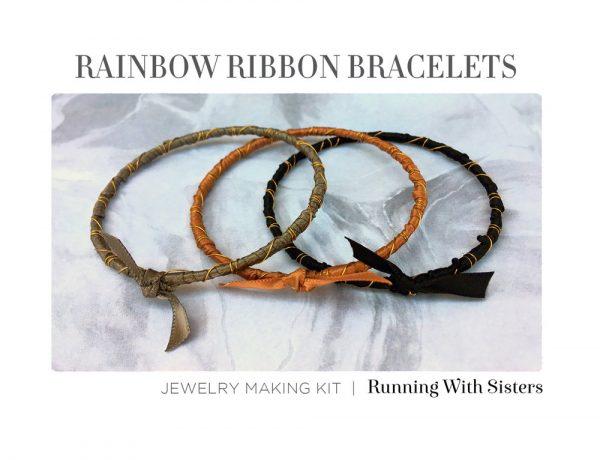 Rainbow Ribbon Bracelets Beach Sands Kit Insert