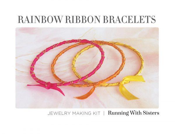 Rainbow Ribbon Bracelets Tropical Sunrise Kit Insert