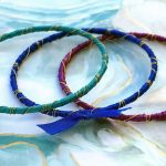 Rainbow Ribbon Wrapped Bracelets Kit Bahama Waters Beauty Shot