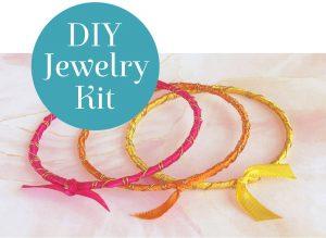 Rainbow Ribbon Bracelets Kit Tropical Sunrise