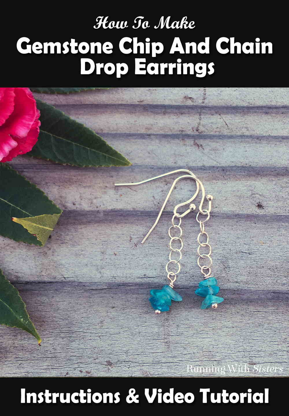 Gemstone Chip And Chain Drop Earrings Pinterest